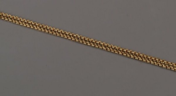 21: Continental gold belcher link guard chain of 192cms