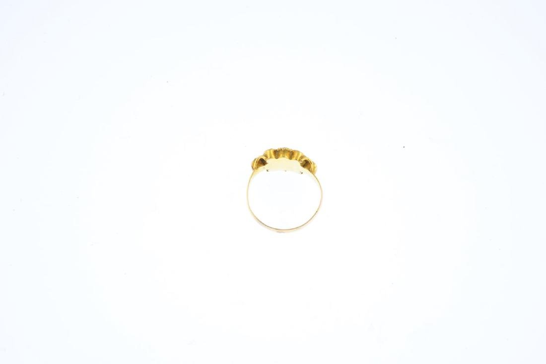 A mid Victorian 15ct gold, split pearl and paste ring. - 2