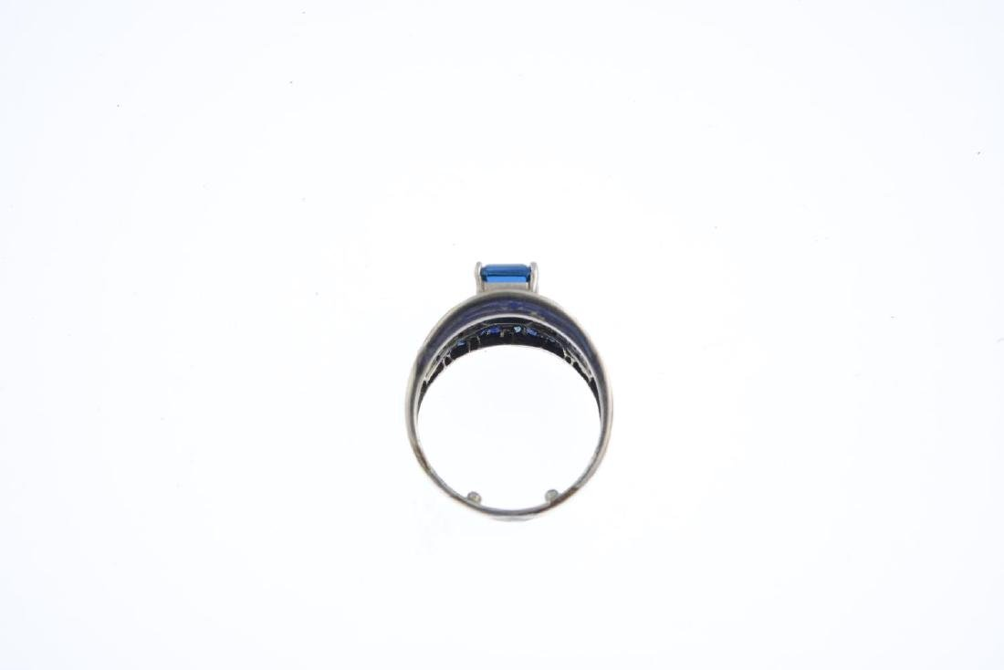 A topaz, sapphire and diamond dress ring. The - 2