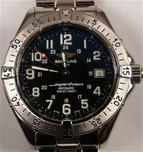 1004: BREITLING - a gentleman's stainless steel Super O