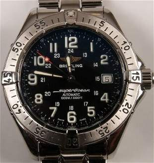 BREITLING - a gentleman's stainless steel Super O