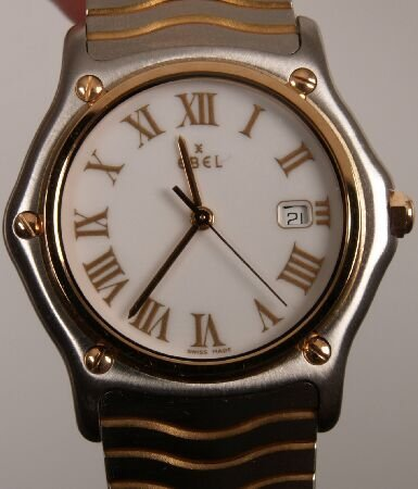 1009: EBEL - a gentleman's stainless steel and rose gol