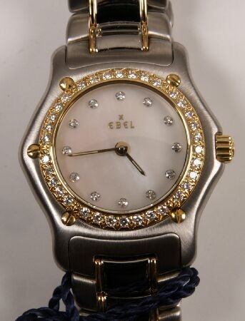 1010: EBEL - a ladies Beluga stainless steel and gold q