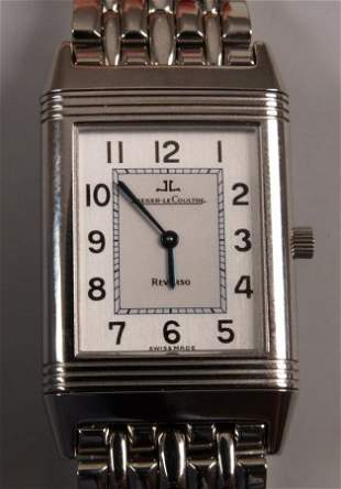 JAEGER-LE-COULTRE stainless steel rectangular cas