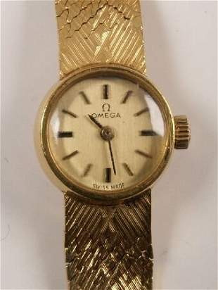 OMEGA - 18ct gold small cased ladies wristwatch w