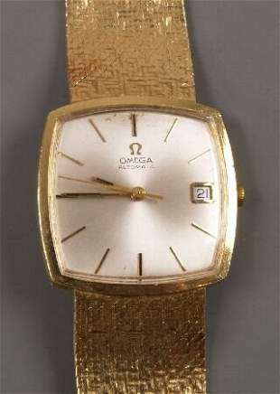 OMEGA - a gentleman's 18ct yellow gold 1980's st