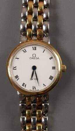 OMEGA - a ladies steel and gold plated De Ville b