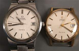 OMEGA - a gentleman's 9ct gold automatic watch he