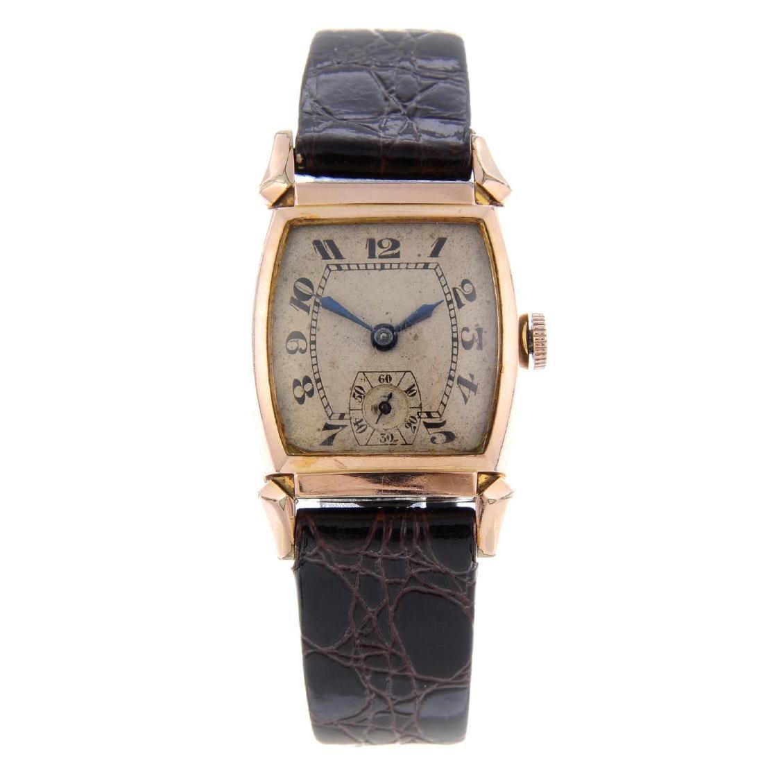 BULOVA - a gentleman's wrist watch. Gold plated case