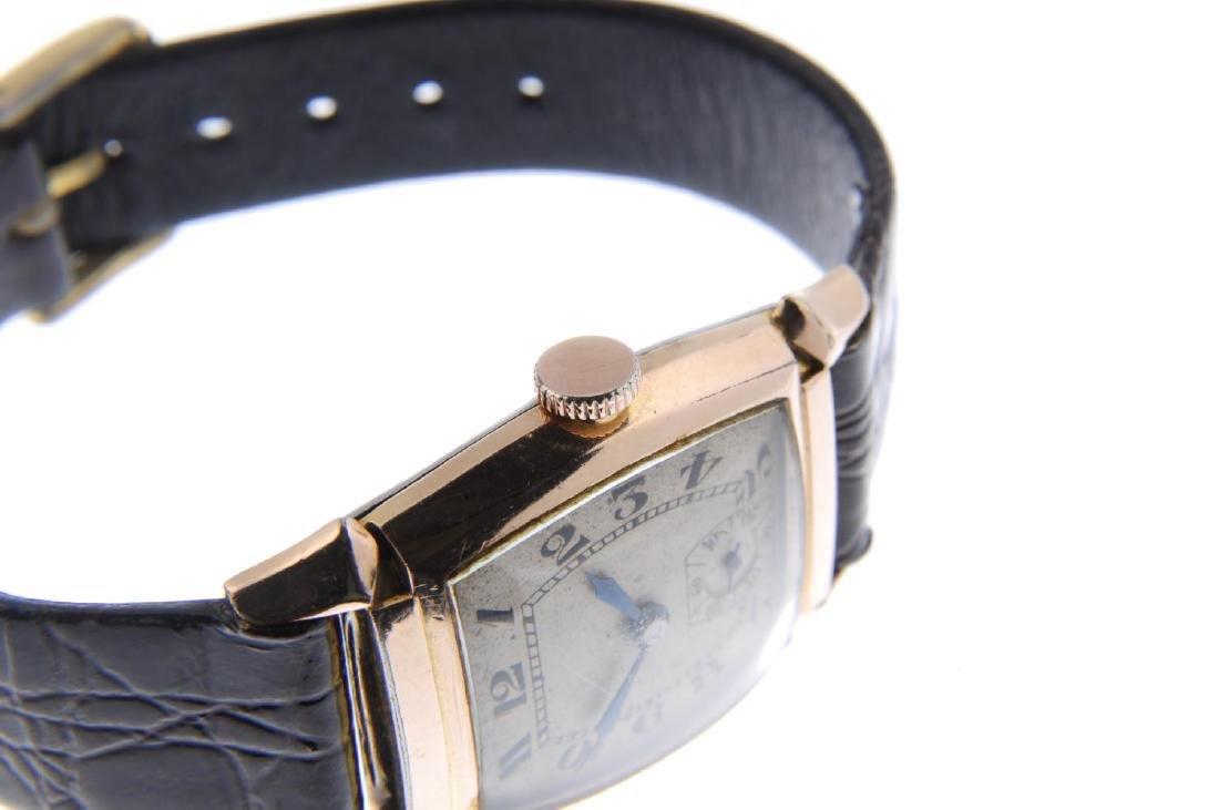 BULOVA - a gentleman's wrist watch. Gold plated case - 4