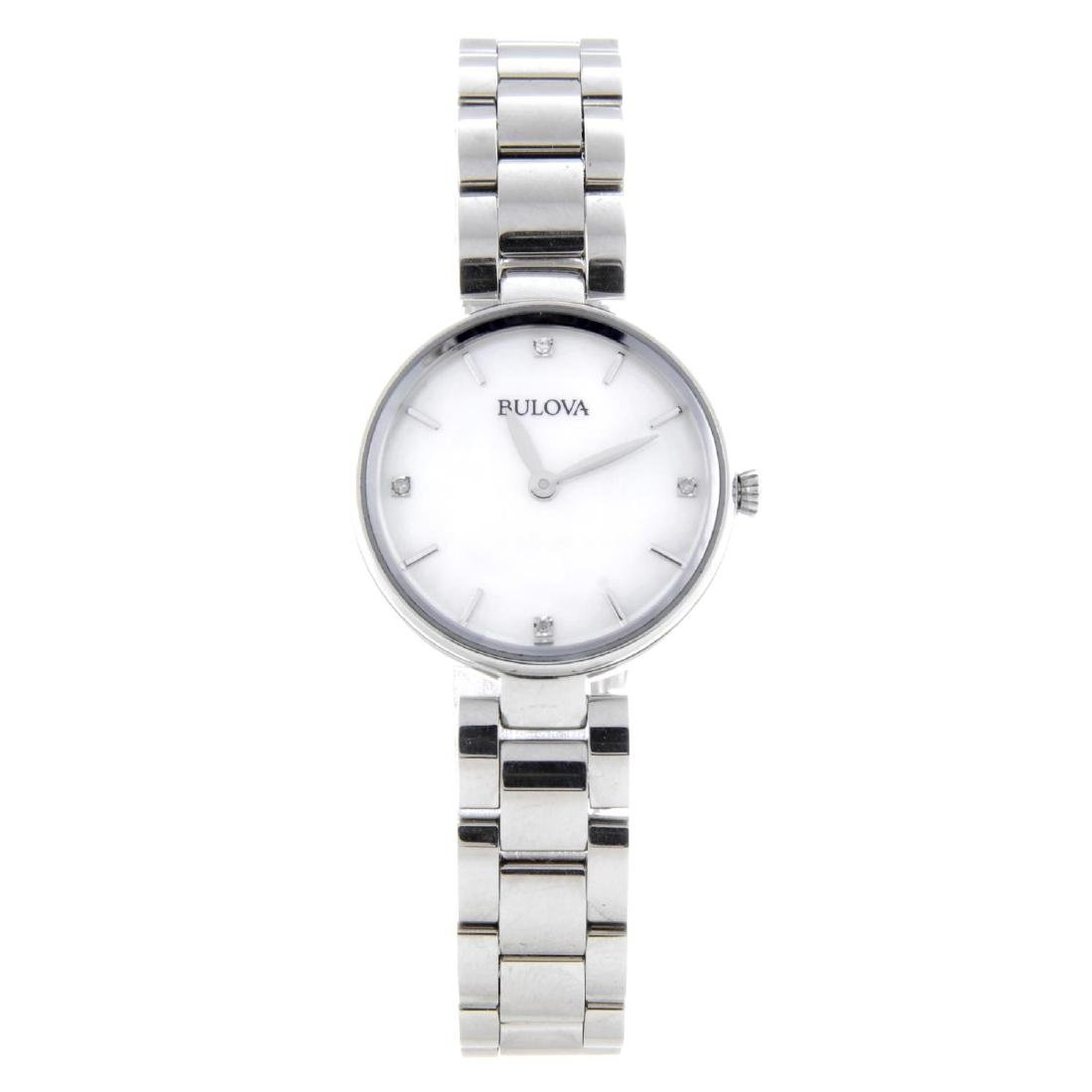BULOVA - a lady's Diamond Gallery bracelet watch.