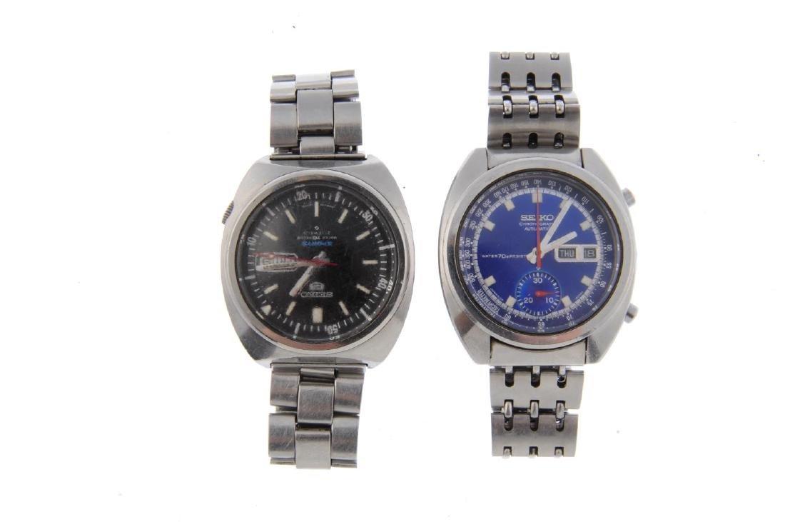 SEIKO - a gentleman's chronograph bracelet watch. - 5