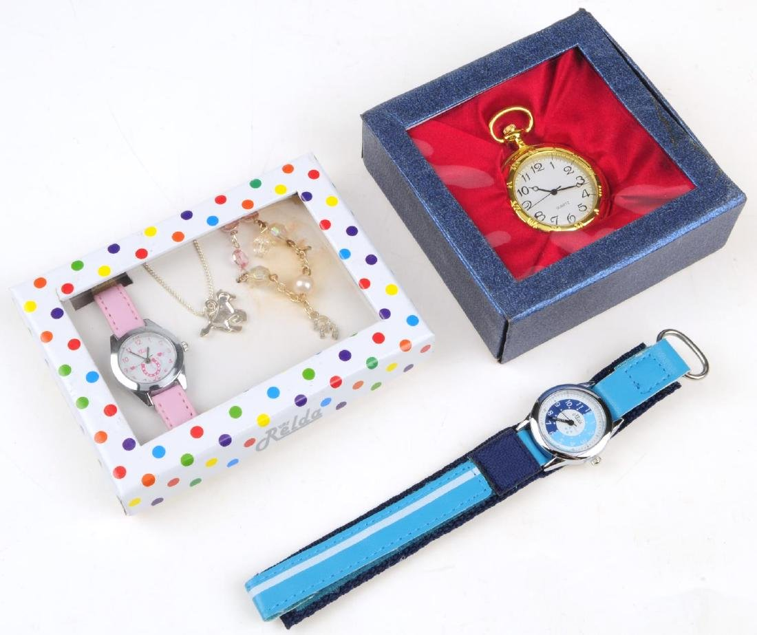 A group of assorted boxed watches and pocket watches.