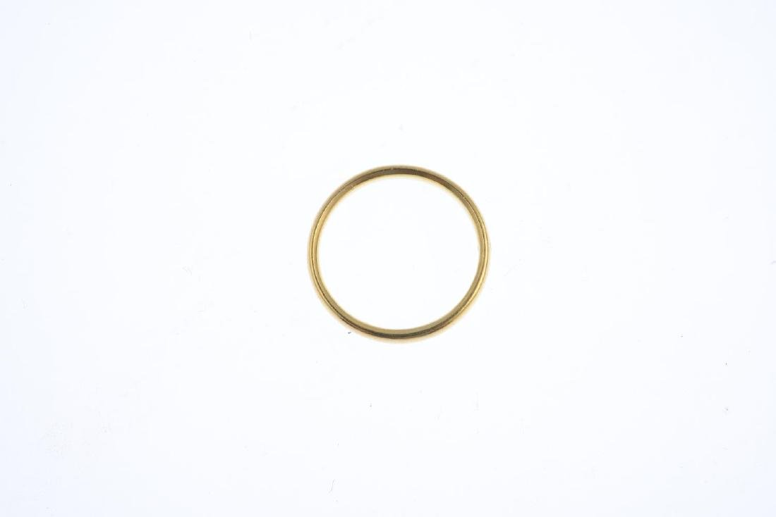 A 22ct gold band ring. Hallmarks for Birmingham, 1940. - 2