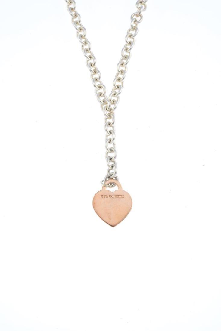 TIFFANY & CO. - a silver necklace. Of bi-colour design, - 2