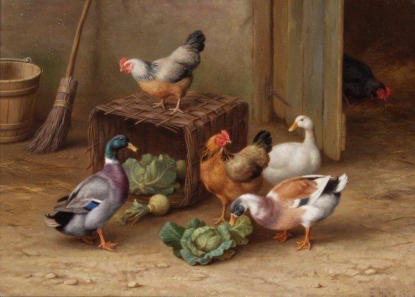 82: EDGAR HUNT (British, 1876 - 1953)