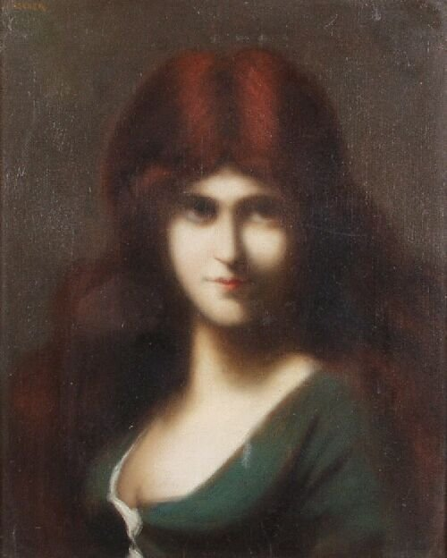 3: JOHN JACQUES HENNER (French, 1829 - 1905)