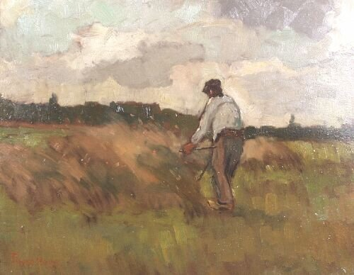 24: FRANS HOOS (Dutch, 20th Century) Farmer w