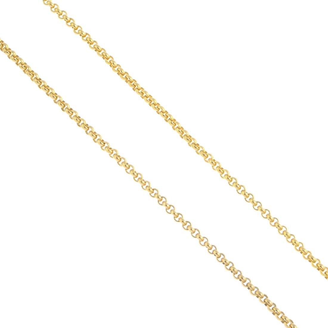 CHOPARD - an 18ct gold necklace. The belcher-link
