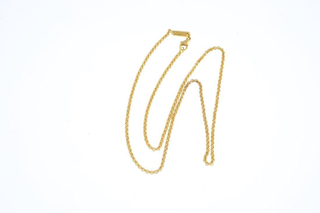 CHOPARD - an 18ct gold necklace. The belcher-link - 2
