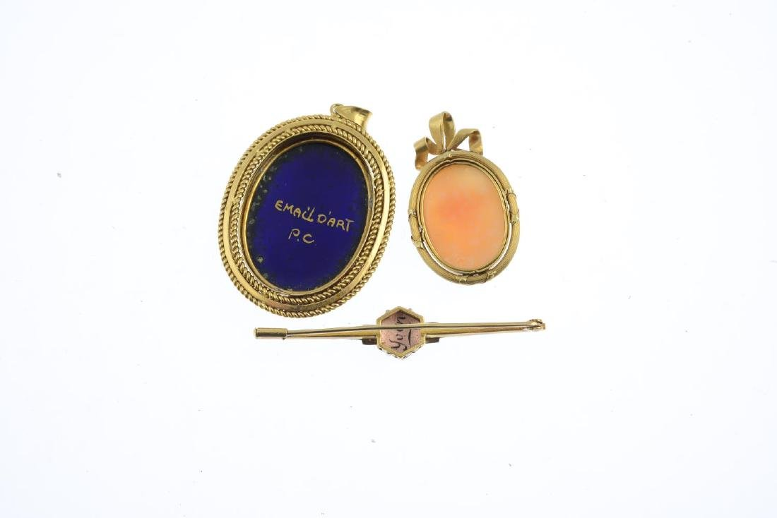 Two pendants and a brooch. To include a pendant - 3