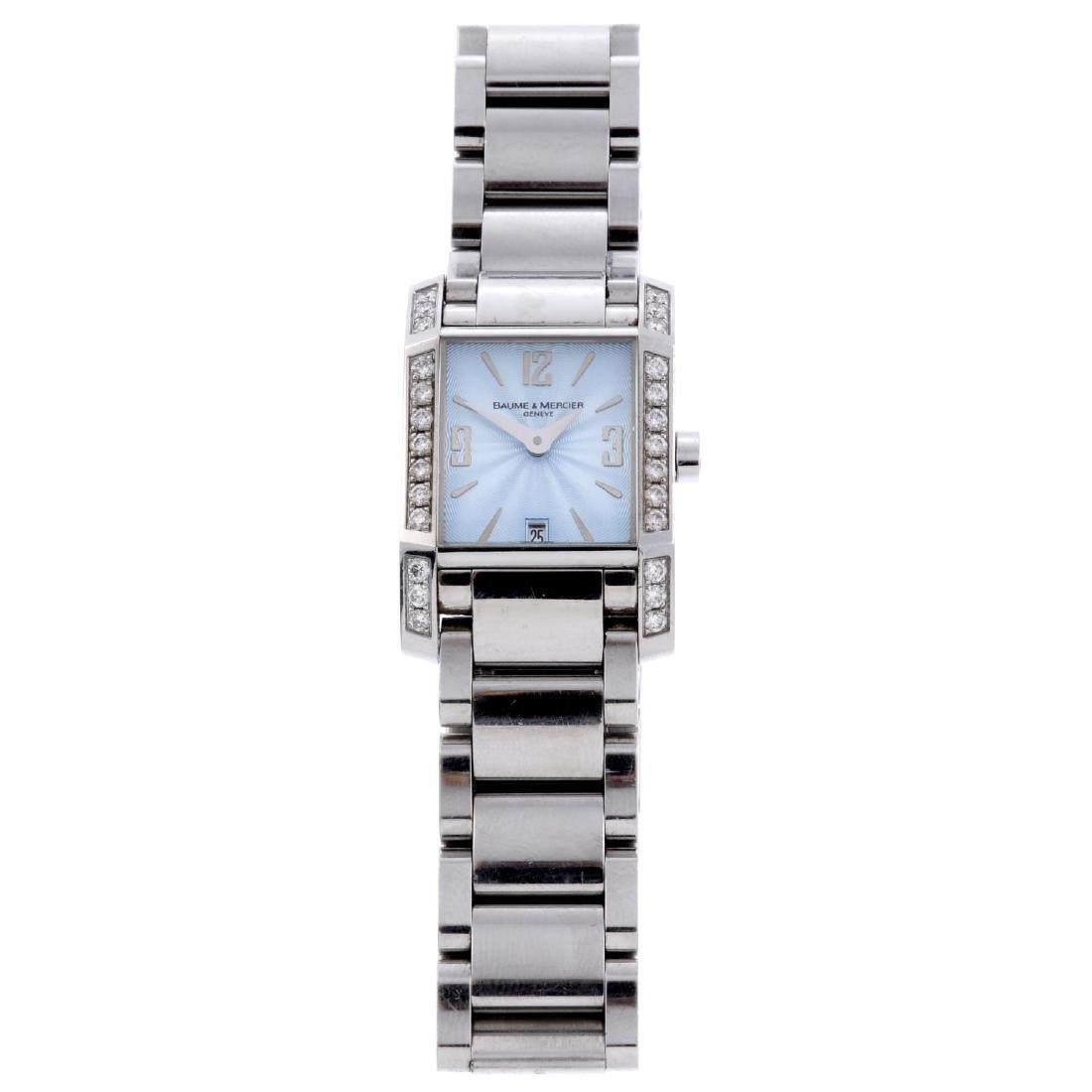 BAUME & MERCIER - a lady's Hampton bracelet watch.