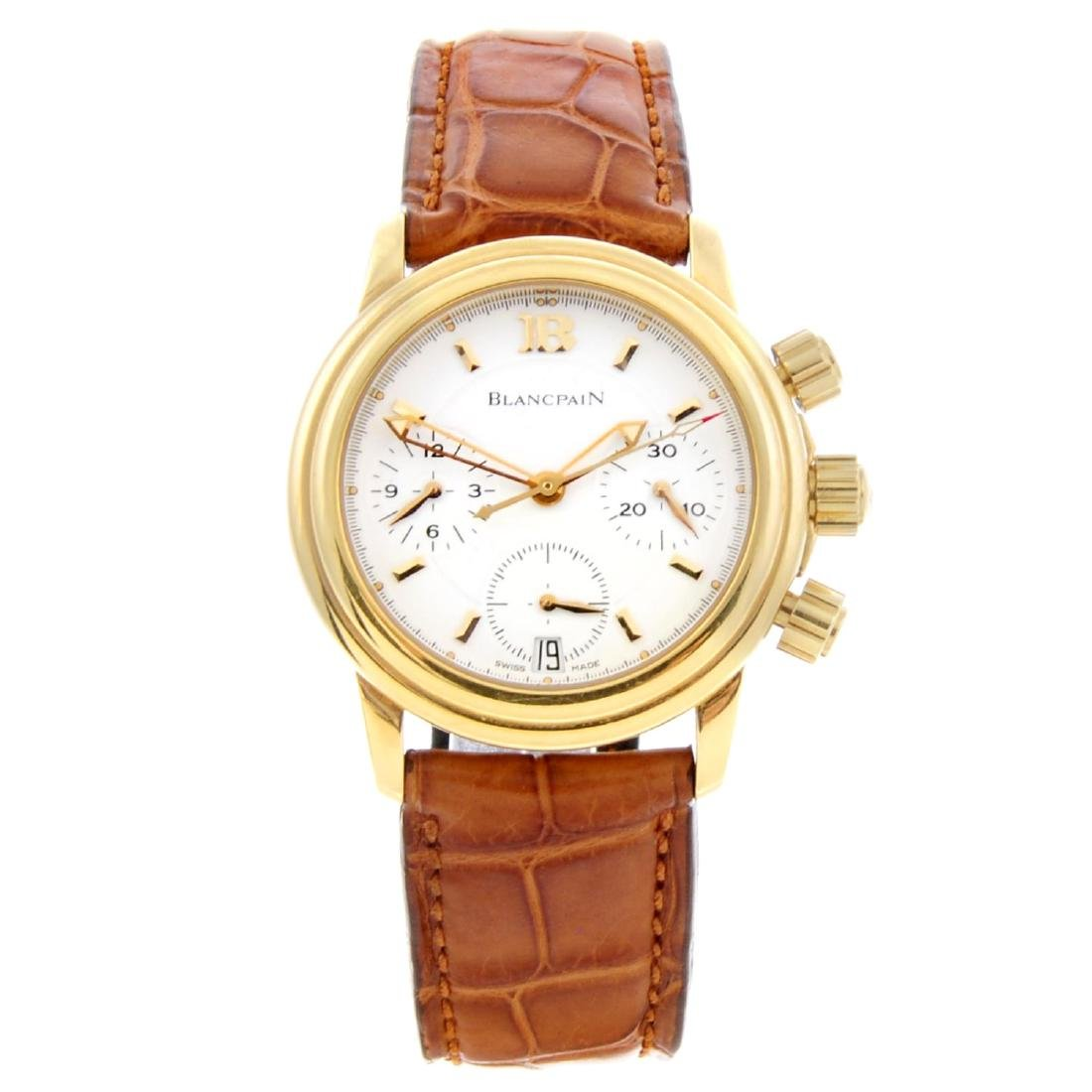 BLANCPAIN - a mid-size Villeret chronograph wrist