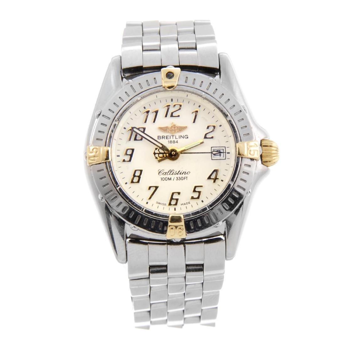 BREITLING - a lady's Callistino bracelet watch.