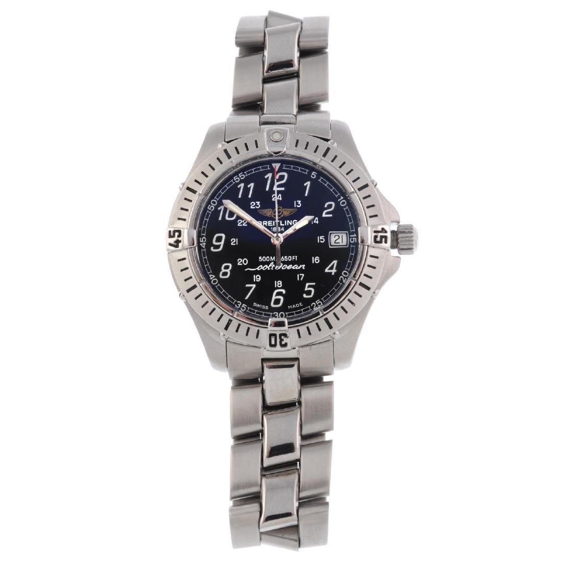 BREITLING - a gentleman's ColtOcean bracelet watch.