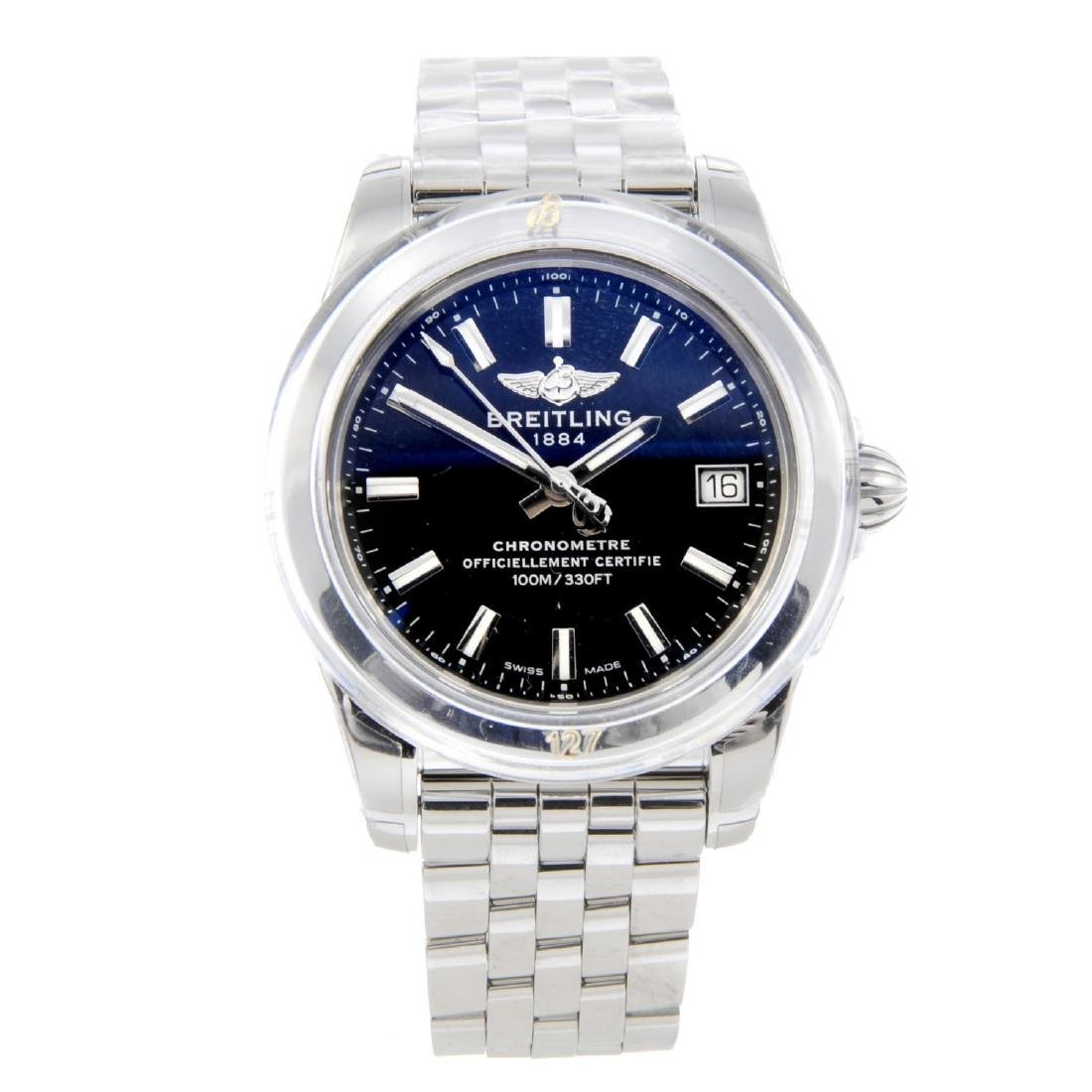 BREITLING - a lady's Galactic bracelet watch. Stainless