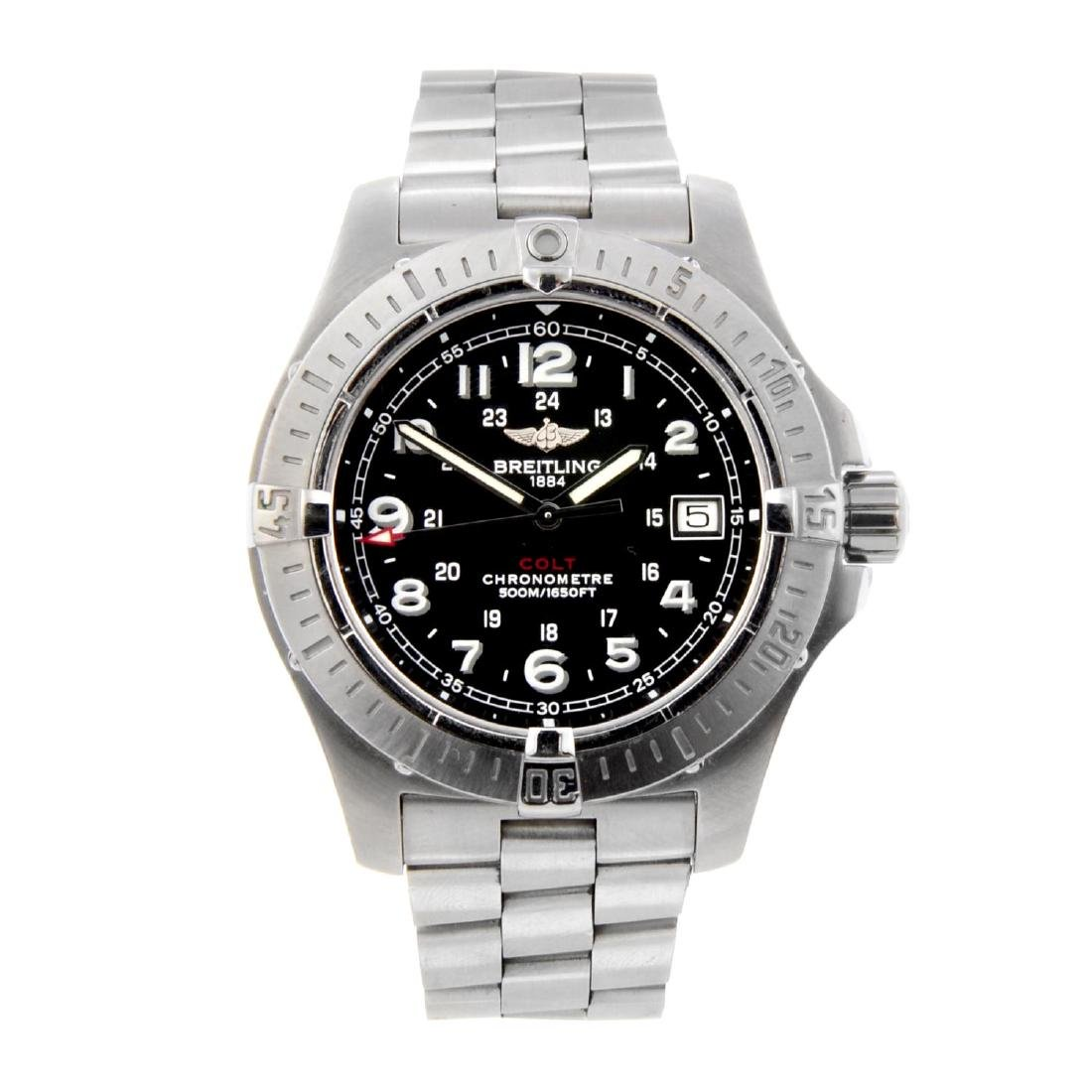 BREITLING - a gentleman's Colt bracelet watch.