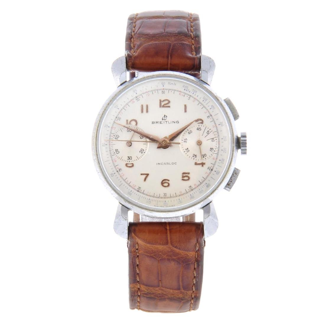 BREITLING - a gentleman's chronograph wrist watch.