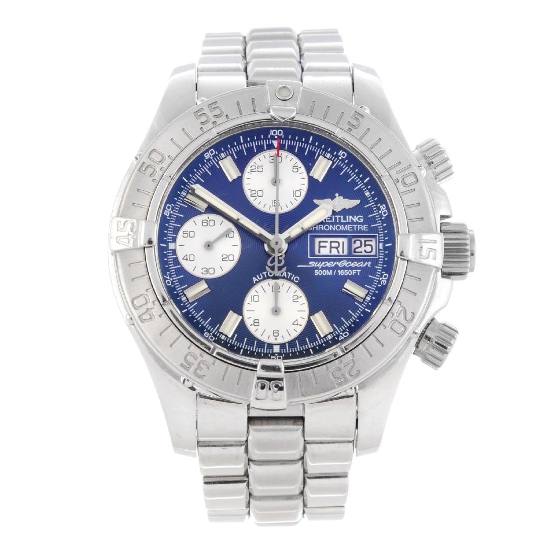 BREITLING - a gentleman's SuperOcean chronograph
