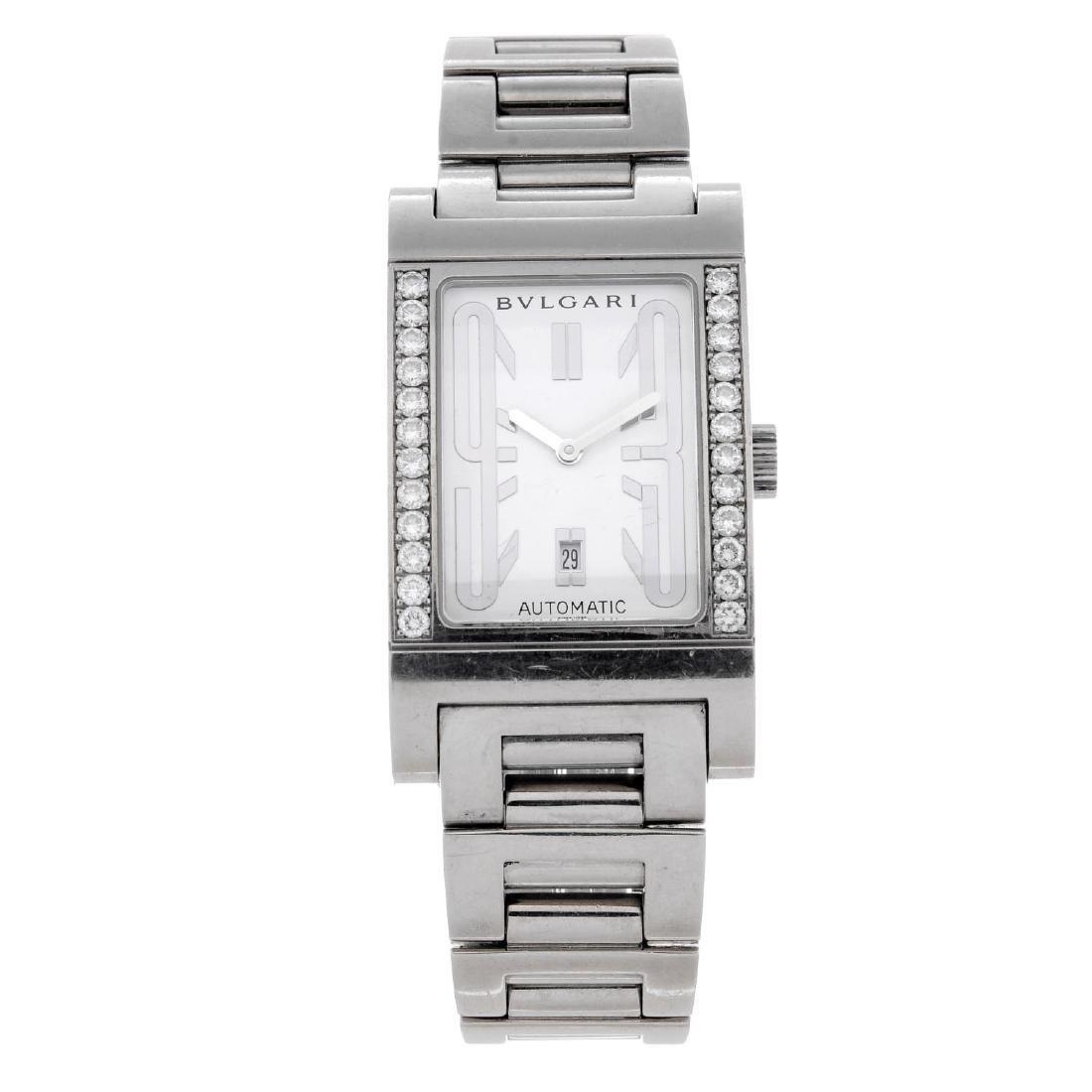 BULGARI - a mid-size Rettangolo bracelet watch. 18ct