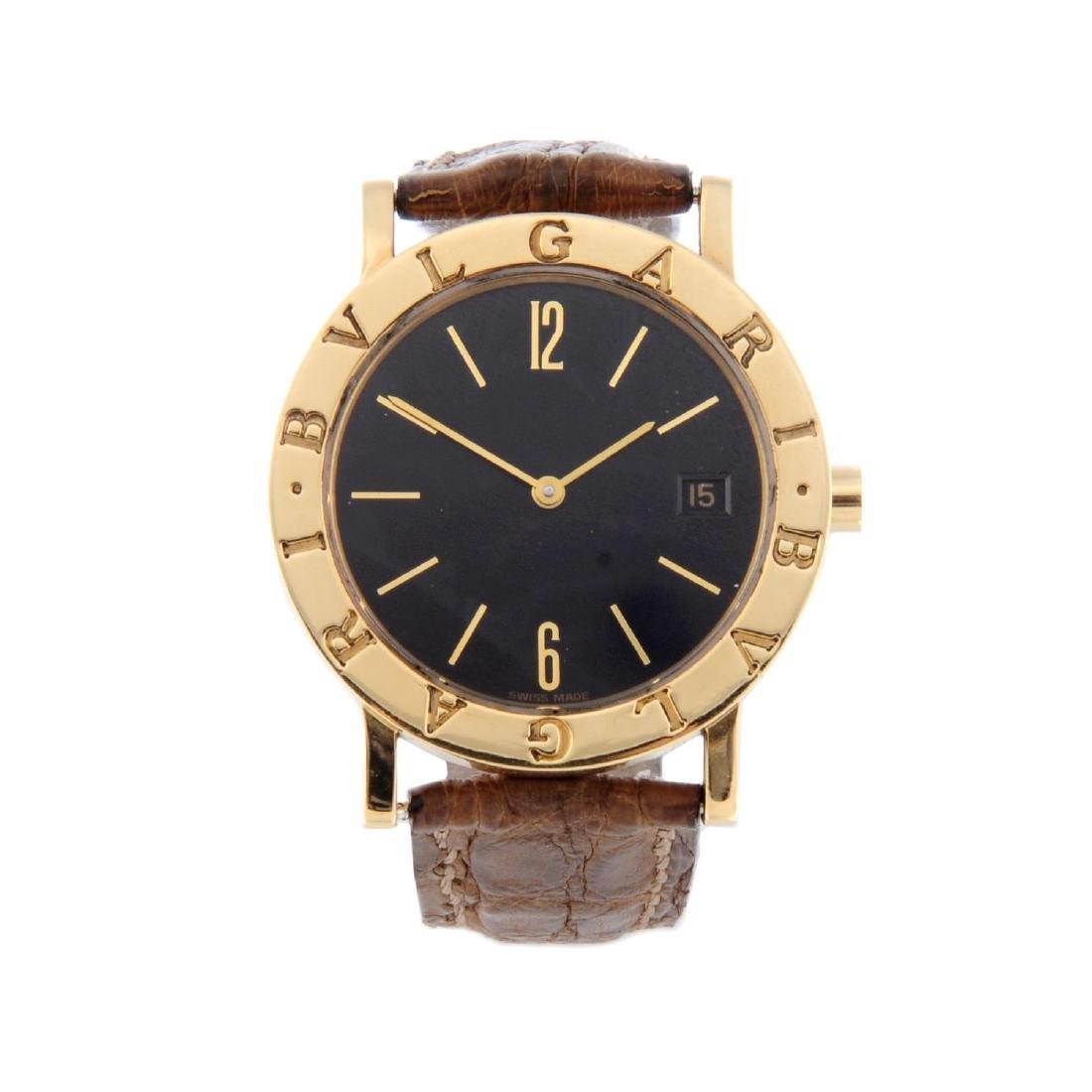 BULGARI - a mid-size wrist watch. 18ct yellow gold