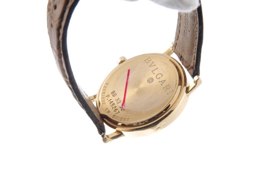 BULGARI - a mid-size wrist watch. 18ct yellow gold - 3