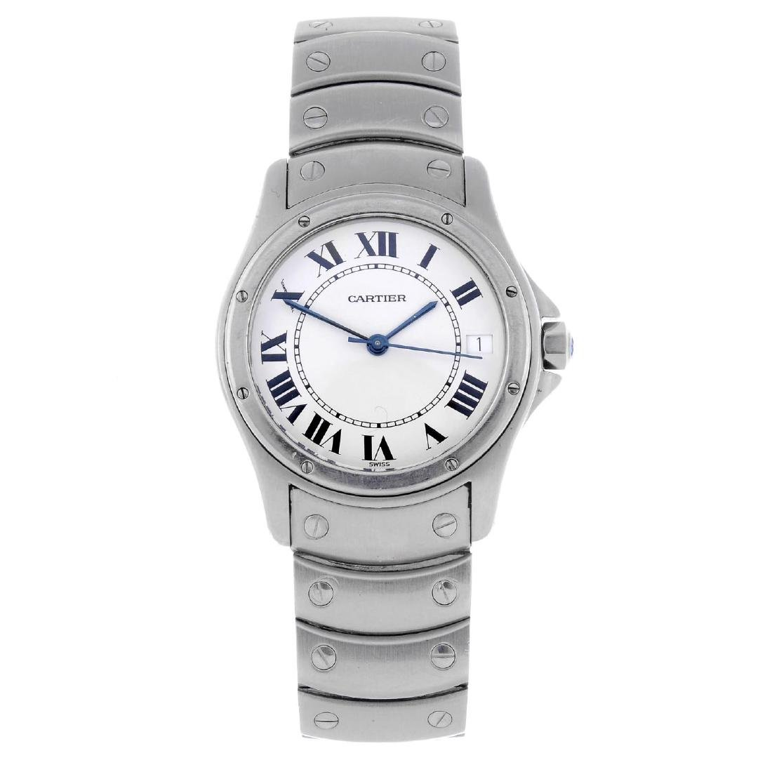 CARTIER - a Cougar bracelet watch. Stainless steel case