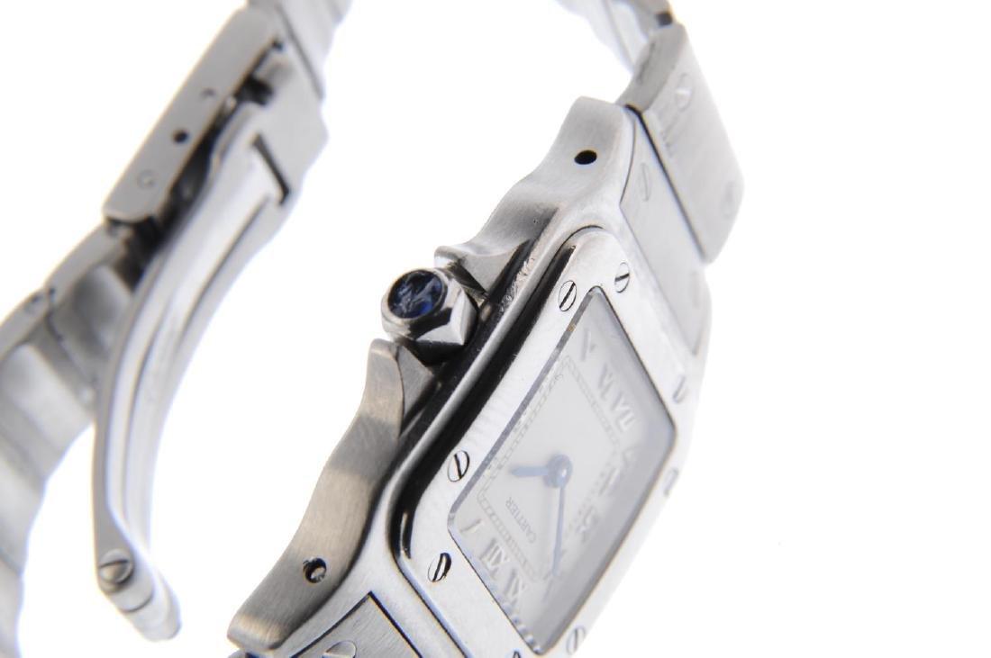 CARTIER - a Santos bracelet watch. Stainless steel - 4