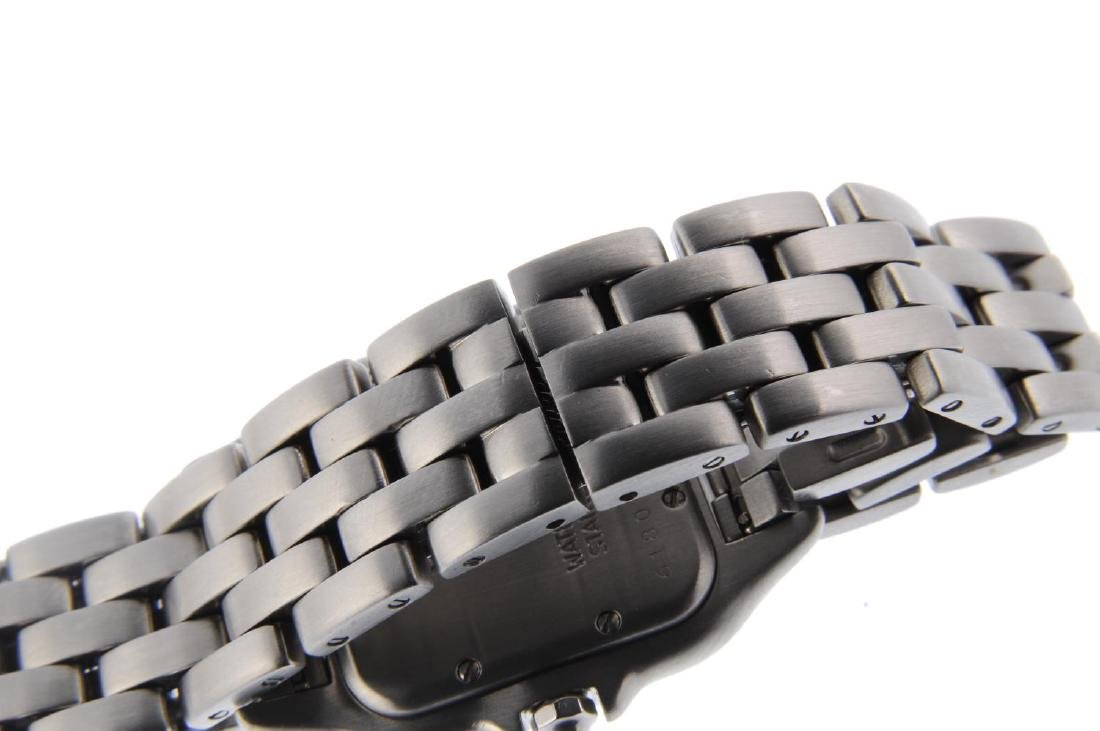 CARTIER - a Panthere bracelet watch. Stainless steel - 2