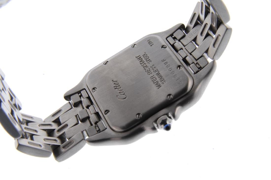 CARTIER - a Panthere bracelet watch. Stainless steel - 3