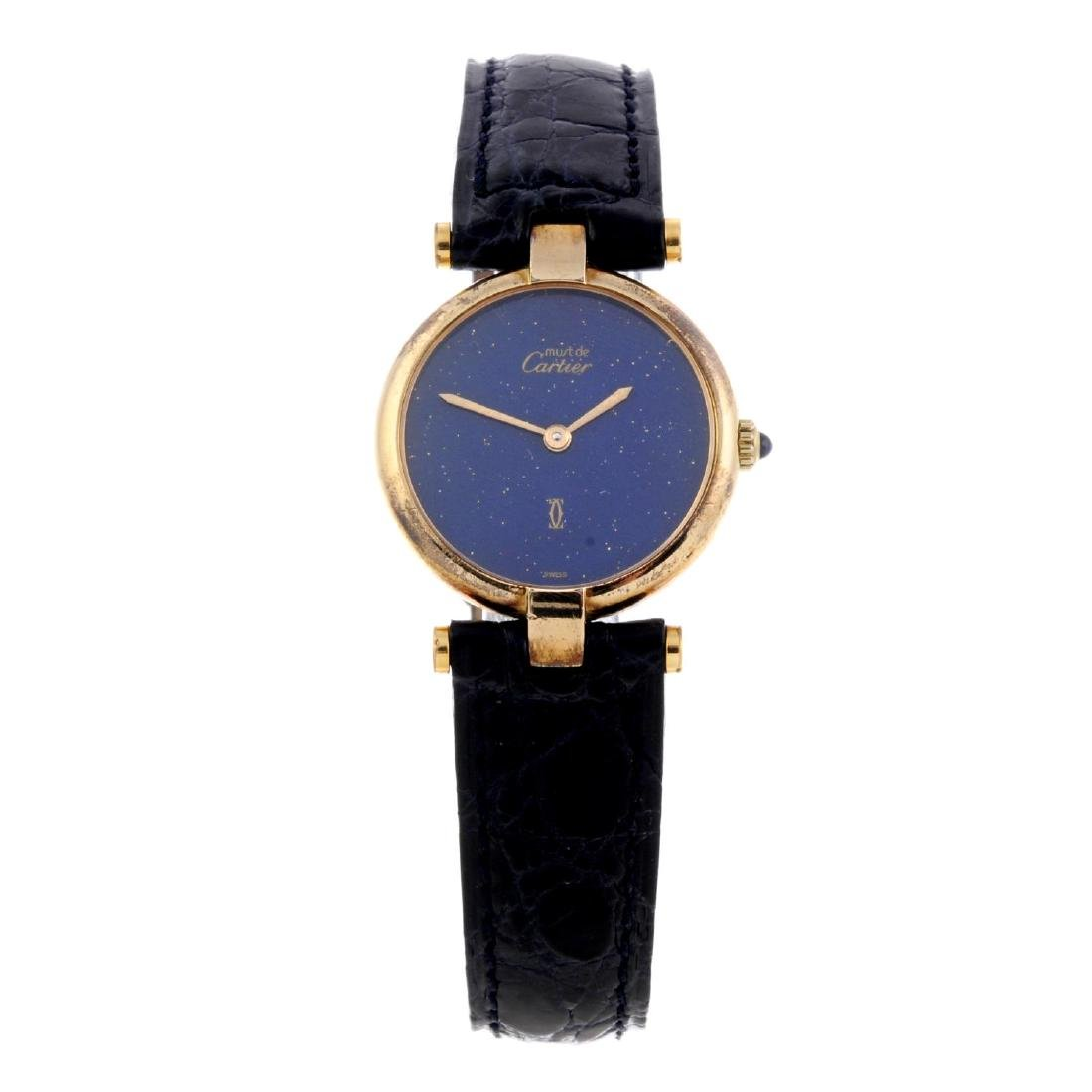 CARTIER - a Must de Cartier wrist watch. Gold plated
