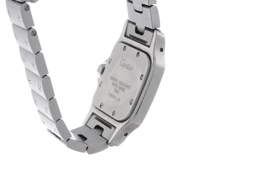 CARTIER - a Santos bracelet watch. Stainless steel - 2