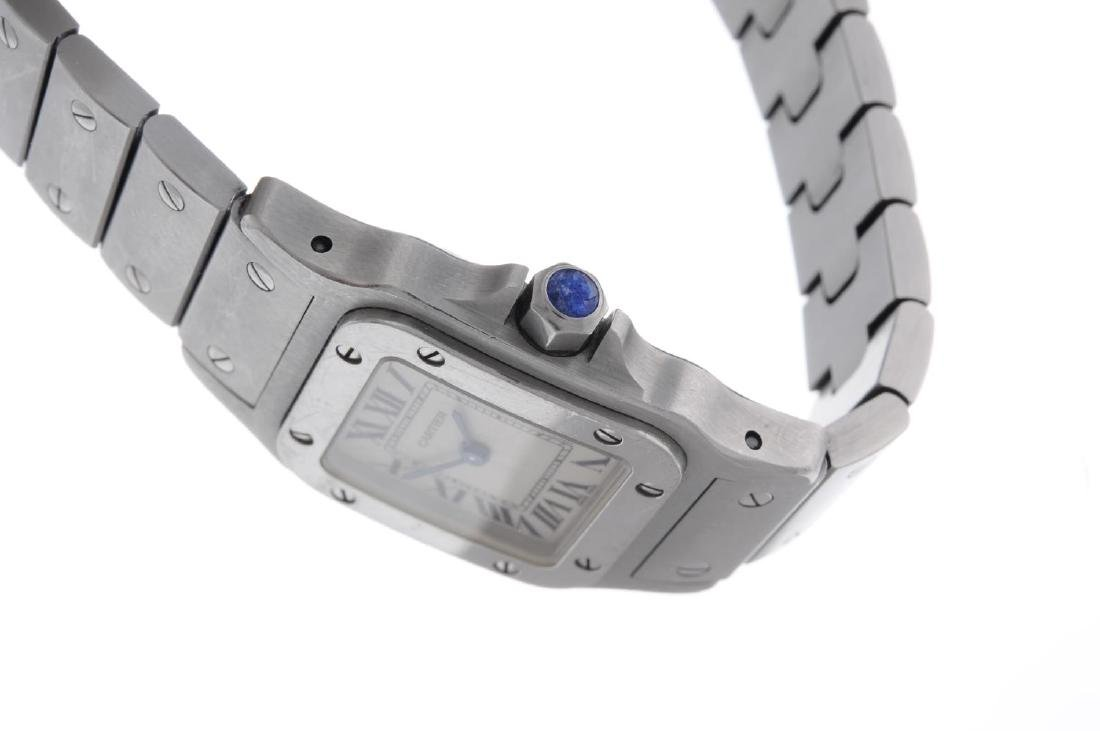 CARTIER - a Santos bracelet watch. Stainless steel - 3