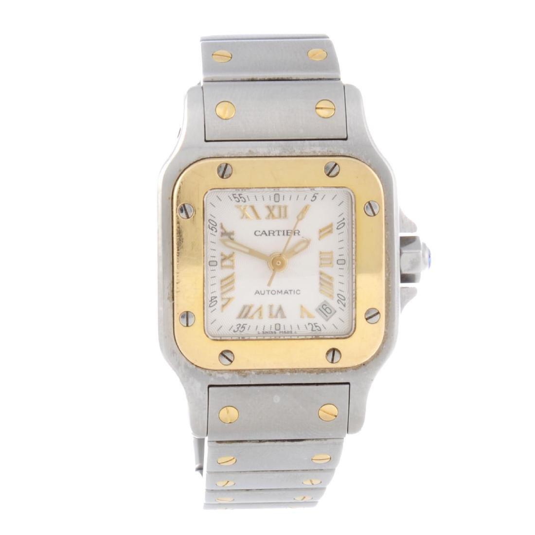 CARTIER - a Santos bracelet watch. Stainless steel case