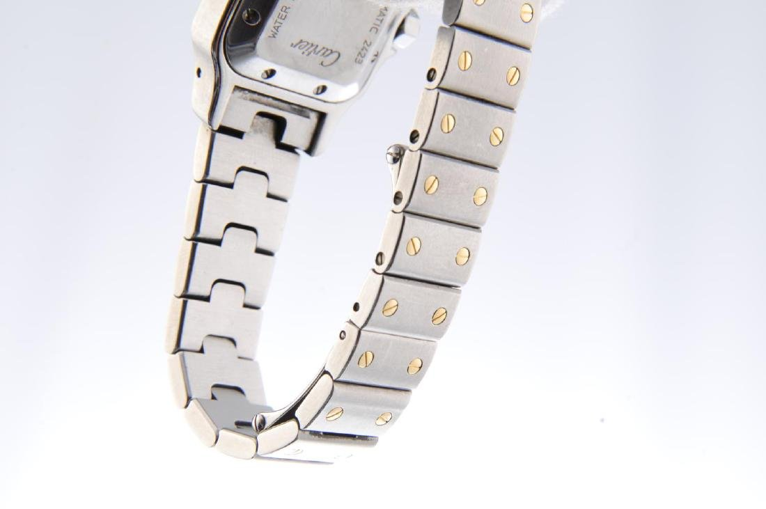 CARTIER - a Santos bracelet watch. Stainless steel case - 4