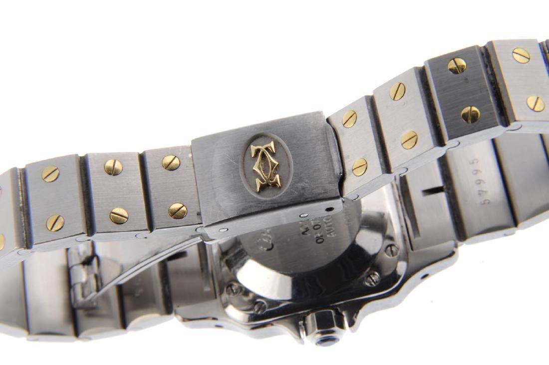 CARTIER - a Santos bracelet watch. Stainless steel case - 2