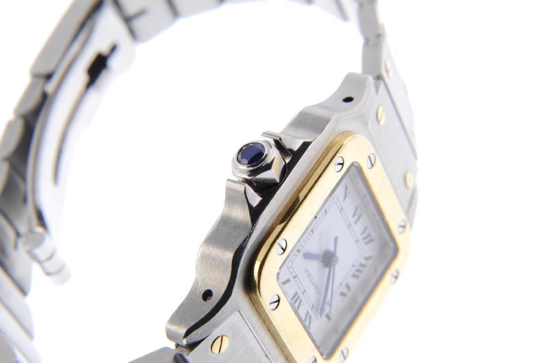 CARTIER - a Santos bracelet watch. Stainless steel case - 4