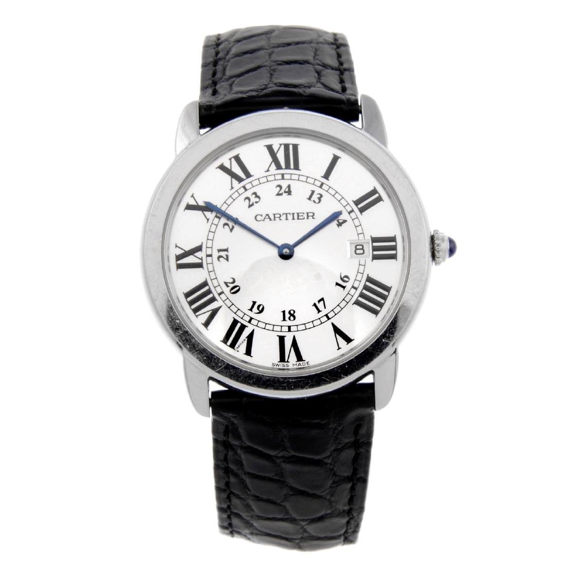 CARTIER - a Ronde Solo wrist watch. Stainless steel