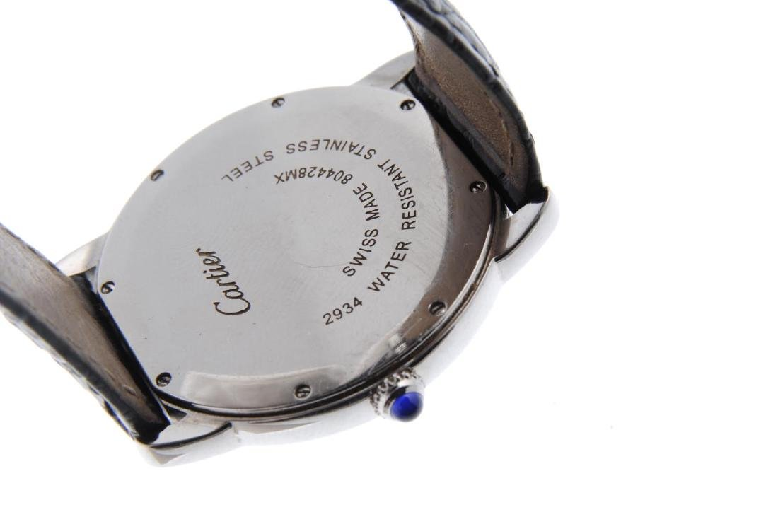CARTIER - a Ronde Solo wrist watch. Stainless steel - 3