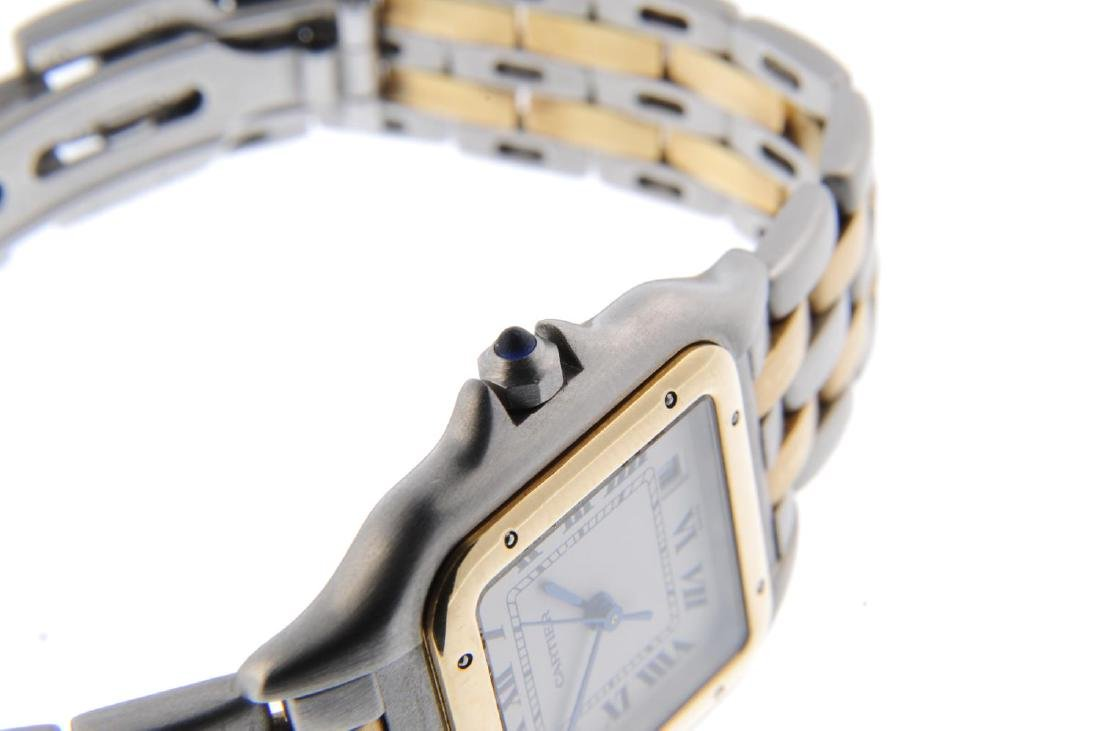 CARTIER - a Panthere bracelet watch. Stainless steel - 4
